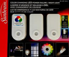 Sunbeam 3 Pack Color Changing LED Power Failure Night Light Flashlight