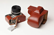 Genuine real Leather Full Camera Case bag cover for Nikon DF 50mm lens Brown