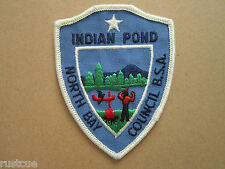Boy Scouts Of America Indian Pond North Bay Council Woven Cloth Patch Badge