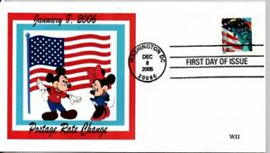 #3968 RATE CHANGE UNITED STAES FLAG STATUE OF LIBERTY, MICKEY MOUSE MINNIE MOUSE