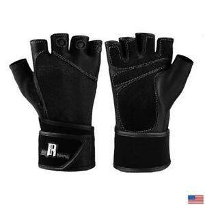 RIMSports Women's Leather Weight Lifting/ Gym/ Fitness Gloves Wrist Support, NEW