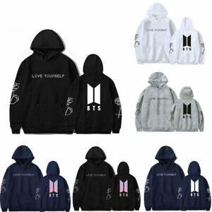 KPOP BTS Love Yourself Hoodie Sweatshirt Pullover Unisex Loose Jacket Coat Tops
