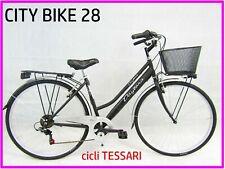 bicicletta donna bici da passeggio city bike 28 cambio 6 velocita' vari colori