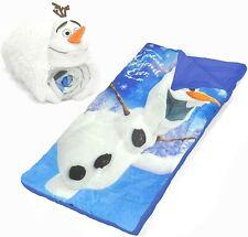 NEW Disney Frozen Snowman Olaf Slumber Sleeping Bag Set White Size 30 x 54