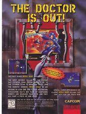 Original 1995 Capcom MEGA MAN 7 Super Nintendo SNES video game print ad page