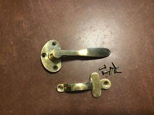 Antique Ice Box Brass Door Handle NOS Hardware