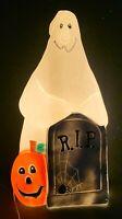"Vintage TPI Halloween Ghost Tombstone Blow Mold RIP Pumpkin 36"" Rare HTF"