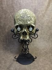 St.Benedict human skull replica carved by Zane Wylie signed and numbered