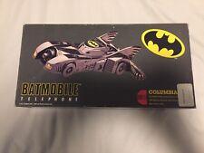 ORIGINAL 1990 BATMAN BATMOBILE MOVIE TELEPHONE IN BOX , Working Touch Tone