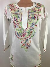 IBC $13 Indian 100% cotton summer   short Tunic Kurti Top  women kurta 38 M