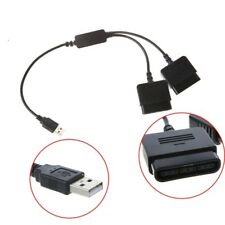 2 in 1 Dual USB Ports PS1 PS2 to PC USB 2.0 Controller Adapter Converter Adapter