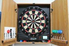 Halex Impact 6.0 Electronic Dartboard Wooden Cabinet and Manual