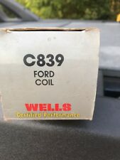 NOS WELLS C839 IGNITION COIL FITS VARIOUS 1984-96 FORD & LINCOLN