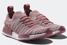 adidas Size 9 Women's Pink/White NMD_R1 STLT Primeknit Shoe - CQ2028
