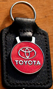 Toyota Keyring Key Ring - badge mounted on a leather fob