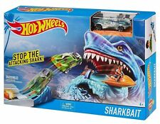 Hot Wheels Shark Bait Play Set Age 4+ Birthday Christmas Gift Free Shipping