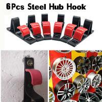 6PCS SLAT WALL METAL Garage WHEEL RIM Work Shop Storage Display HOOK  13-22 inch