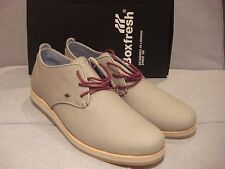 BOXFRESH MEN'S SAVILL E-12093 WXD CANVAS LIGHT GREY SIZE 9 SHOES - BRAND NEW