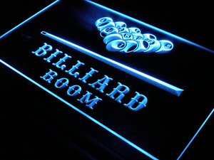 3 Sizes Billiard Ball Man Cave Recreation Game Room Night Light Up Door LED Sign