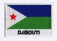 Patch brodé à coudre écusson patche drapeau DJIBOUTI 70 x 45 mm Pays Monde