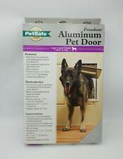 PetSafe Freedom Aluminum Pet Door w/ Closing Panel Large for 1-100 lb Brand New