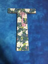 Ashland Spring Rustic Charm Distressed Wall Decor Wooden Letter T New