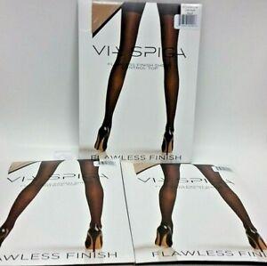 ( LOT 3 ) NEW Via Spiga Flawless Finish Sheer Control Top Nude Pantyhose Size B