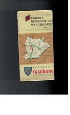 Becker´s Übersichts- und Wanderkarte - Marburg an der Lahn