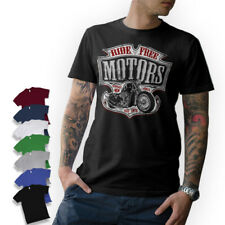 T-shirt-Biker-Motorcycle moto chopper Bobber rythm mc helicópteros
