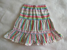 Naartjie Girls 6 Island Striped Floral Ruffle Skirt Pink Blue Boho Tiered Modest