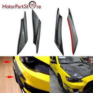 For Mitsubishi Evo EVOLUTION 10 Carbon Front Bumper Canards set Evo X (4 piece)