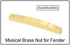 "AxeMasters 1 5/8"" / 41mm BRASS NUT for VINTAGE Fender Strat Tele Guitars"