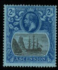 More details for ascension sg19 1924 2/= grey-black & blue/blue mtd mint