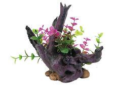 Driftwood & Plant Ornamento del acuario Reptil Vivero, Nano peces tanque decoración