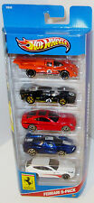 5 Pack Hot Wheels Ferrari's Italian Sports Cars 330 P4 512M 612 FF FXX Multi HW