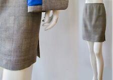 Dana Buchman Wool Laine Gray Cobalt Glen Plaid Lined Mini Short Skirt S 4