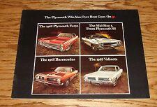 Original 1968 Plymouth Full Line Sales Brochure 68 Barracuda Fury Road Runner