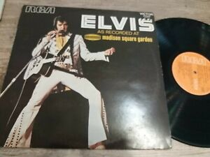 ELVIS PRESLEY AS RECORDED AT MADISON SQUARE GARDEN 33 TOURS ROCKABILLY ROCK N