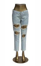 Flying Monkey Jeans L8368 Rip Tear Torn Holey Cropped Skinny Denim Sz 29 in NWT