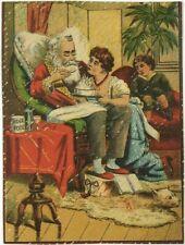 Victorian Trade Card Ridge's Food Blanc Mange Dyspeptics Woolrich Co Santa Claus