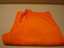 Victoria's Secret Plush & Lush Orange Terry Cloth Cover Capri Shorts Sz. M NWOT
