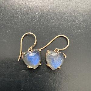 Silver Gemstone Earrings Silver 925 Earrings Natural Labradorite Gemstone Earrings J609 Genuine Labradorite Earrings