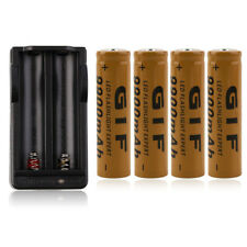 4x 9900mAh BRC 3.7v 18650 Rechargeable Li-ion Battery + US Smart Charger