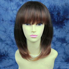 Wiwigs Face Framed Layered Straight Brown Auburn Mix Ladies Wig