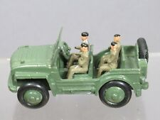 """DINKY TOYS MODEL No.674 MILITARY """" AUSTIN CHAMP + 4 SOLDIERS"""" ( CODE 3 REFINISH)"""