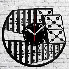 Dominoes Vinyl Record Wall Clock Home Fan Art Decor 6256