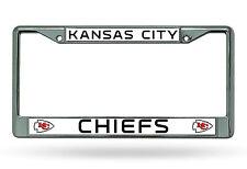 Kansas City Chiefs New Des Metal Chrome License Plate Tag Frame Cover Football