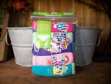 FADED GLORY GIRLS BRIEFS UNDERWEAR 5 PACK SIZE 8 DAY OF THE WEEK THEME SCHOOL