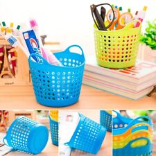 Plastic Office Desktop Storage Baskets Makeup Organizer Trash Bin Garbage Can