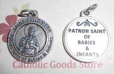 """Saint St. Philomena - Patron Saints of Babies and Infants - 3/4 """"  Medal"""